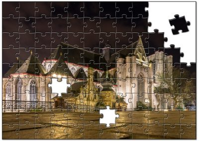 Night puzzle of a church