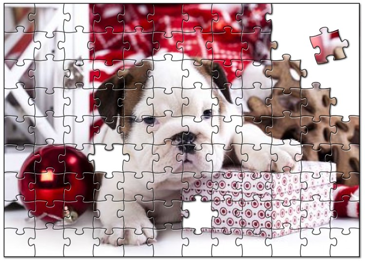 Christmas Dog Jigsaw