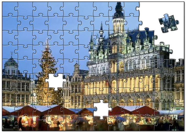 Grote markt Brussel in december