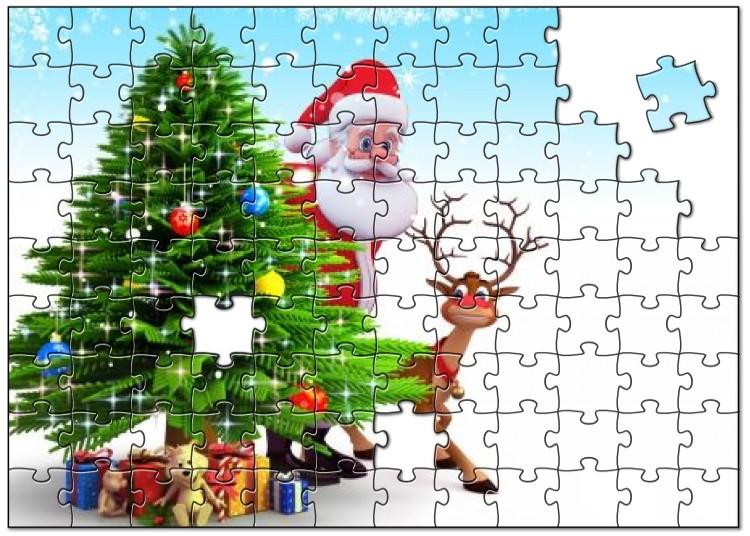 Kerstman legpuzzel