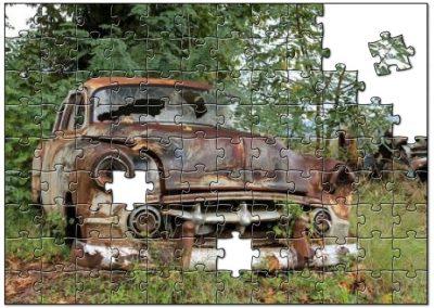 Oude verroeste auto