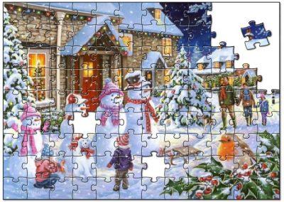 Kerst sneeuw puzzel