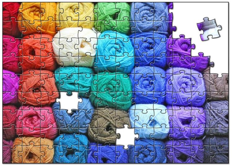 Wol in alle kleuren van de regenboog