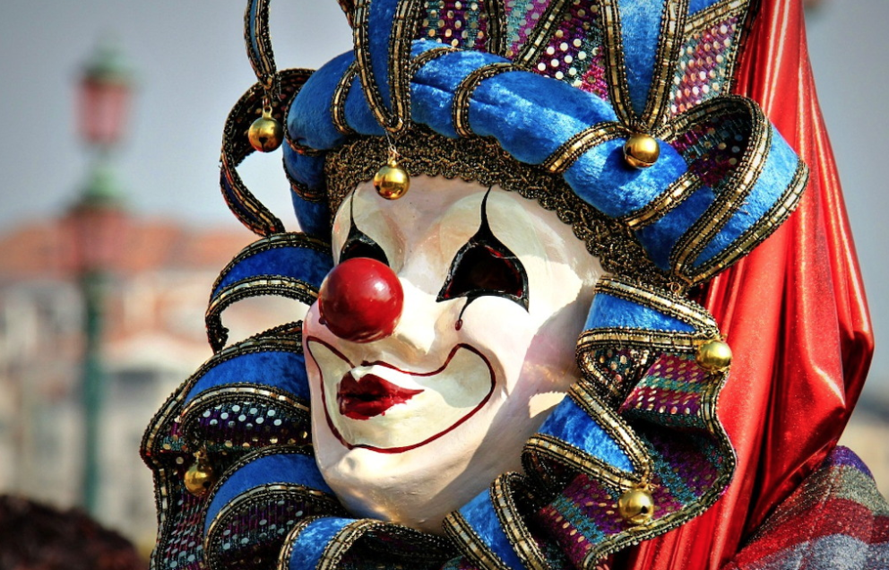 Clown masker in Venetië