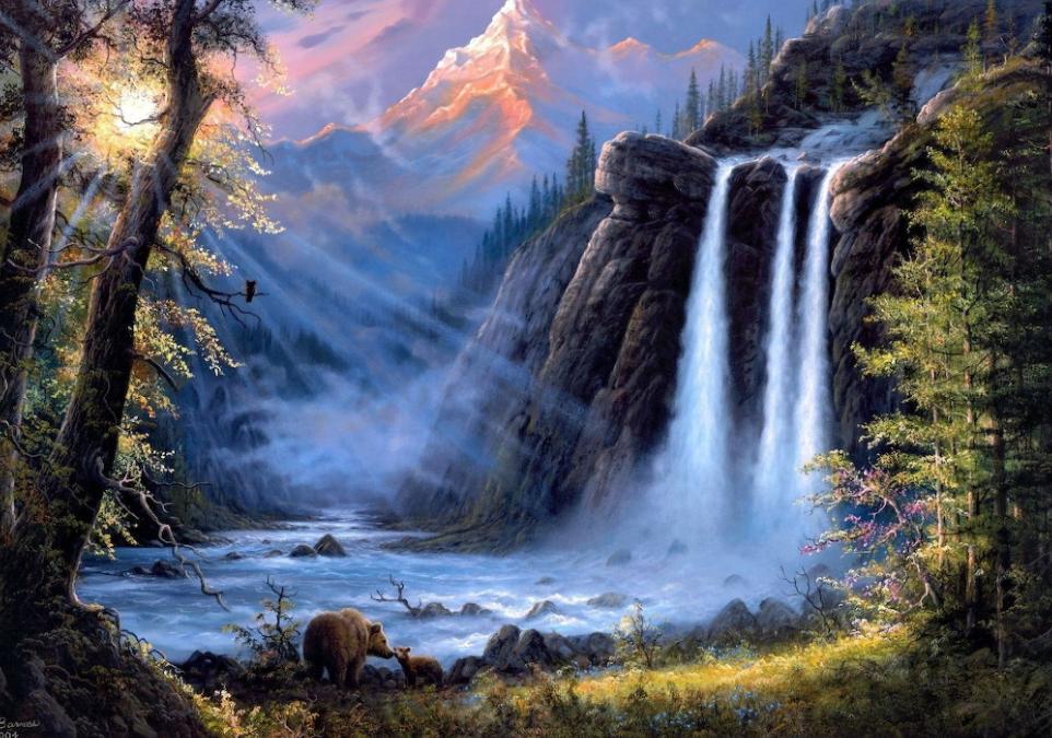 Schitterende waterval